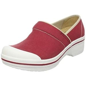 Dansko Sanibel Volley Red Canvas Vegan Clog